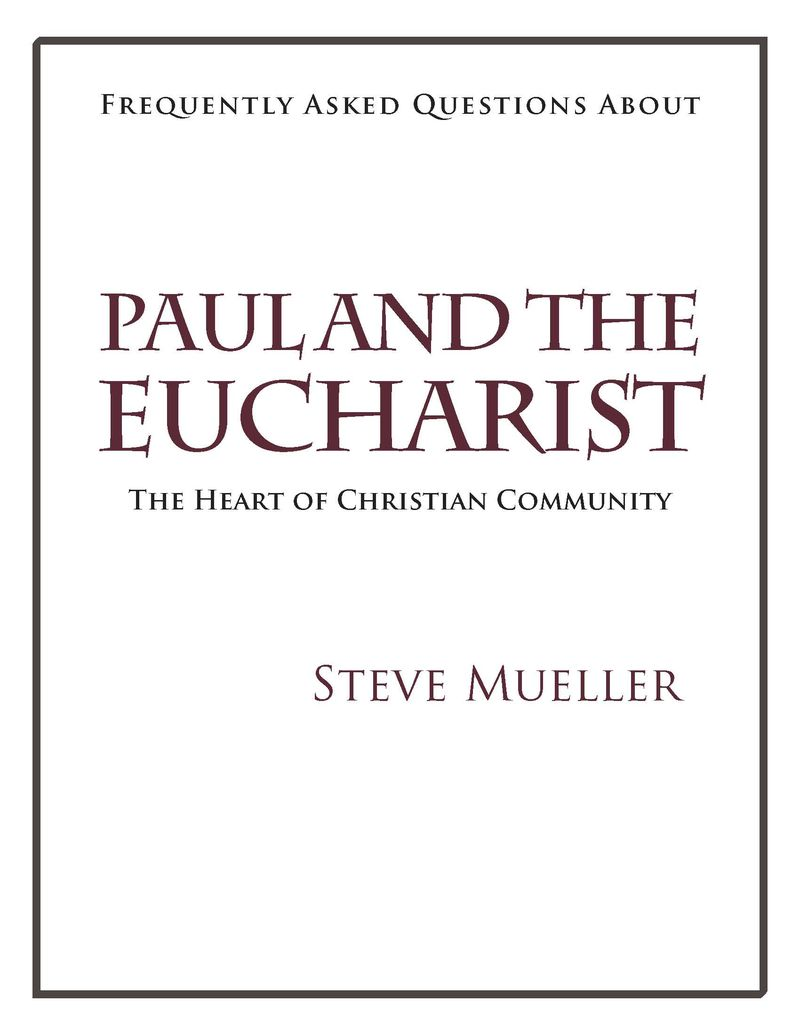 Paul and the Eucharist(Cover)