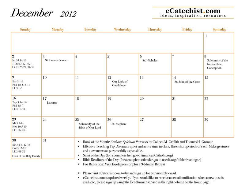 December 2012 calendar